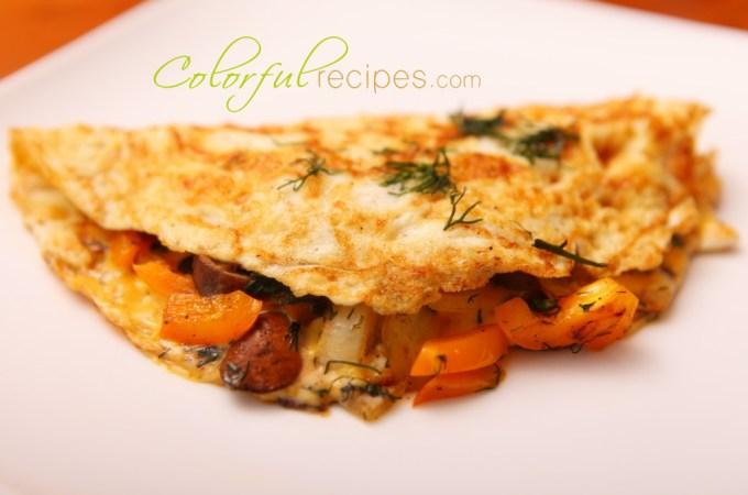 Egg White Dill Omelet