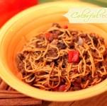 mom's comfort spaghetti colorfulrecipes.com
