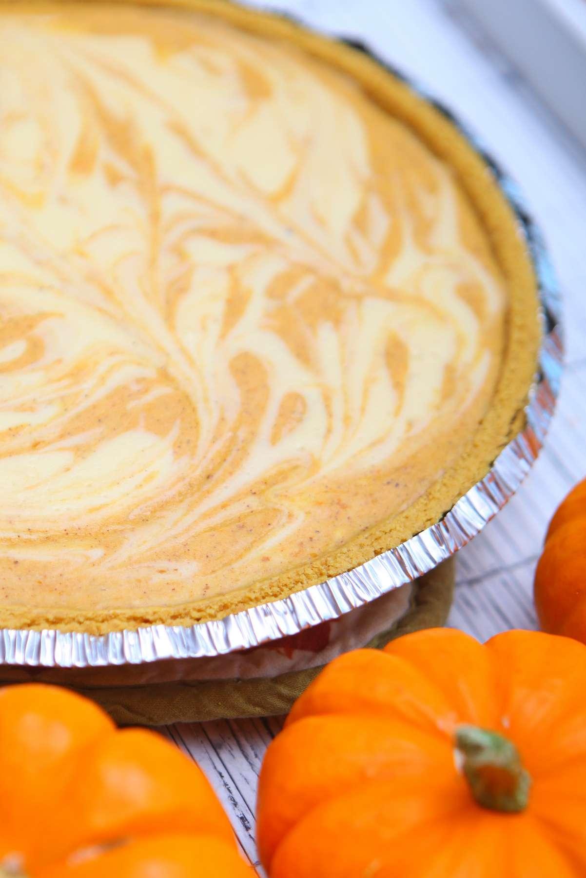 cheesecake pumpkin swirl pie