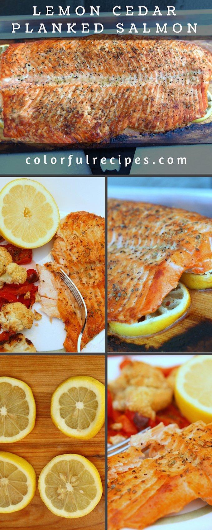 lemon cedar planked salmon