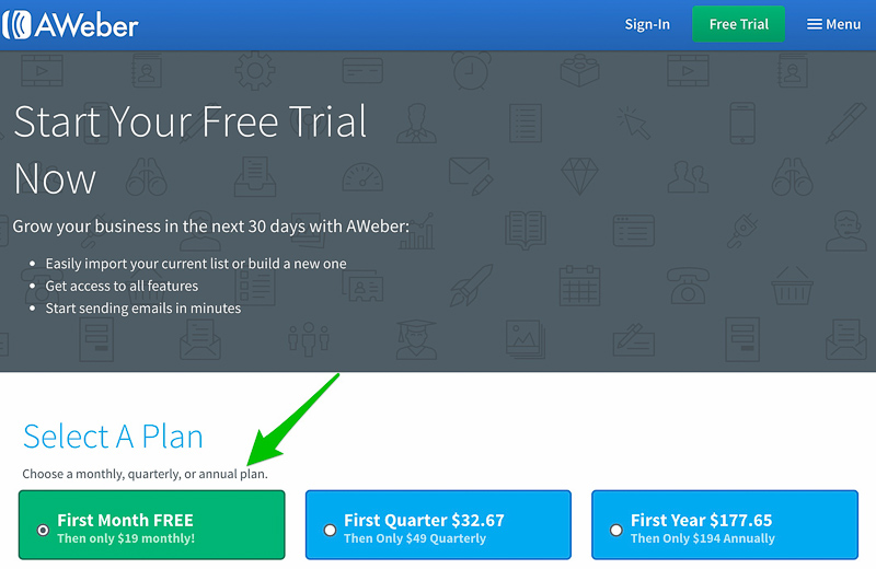 Aweber free trial How to Create an Email Newsletter with Aweber