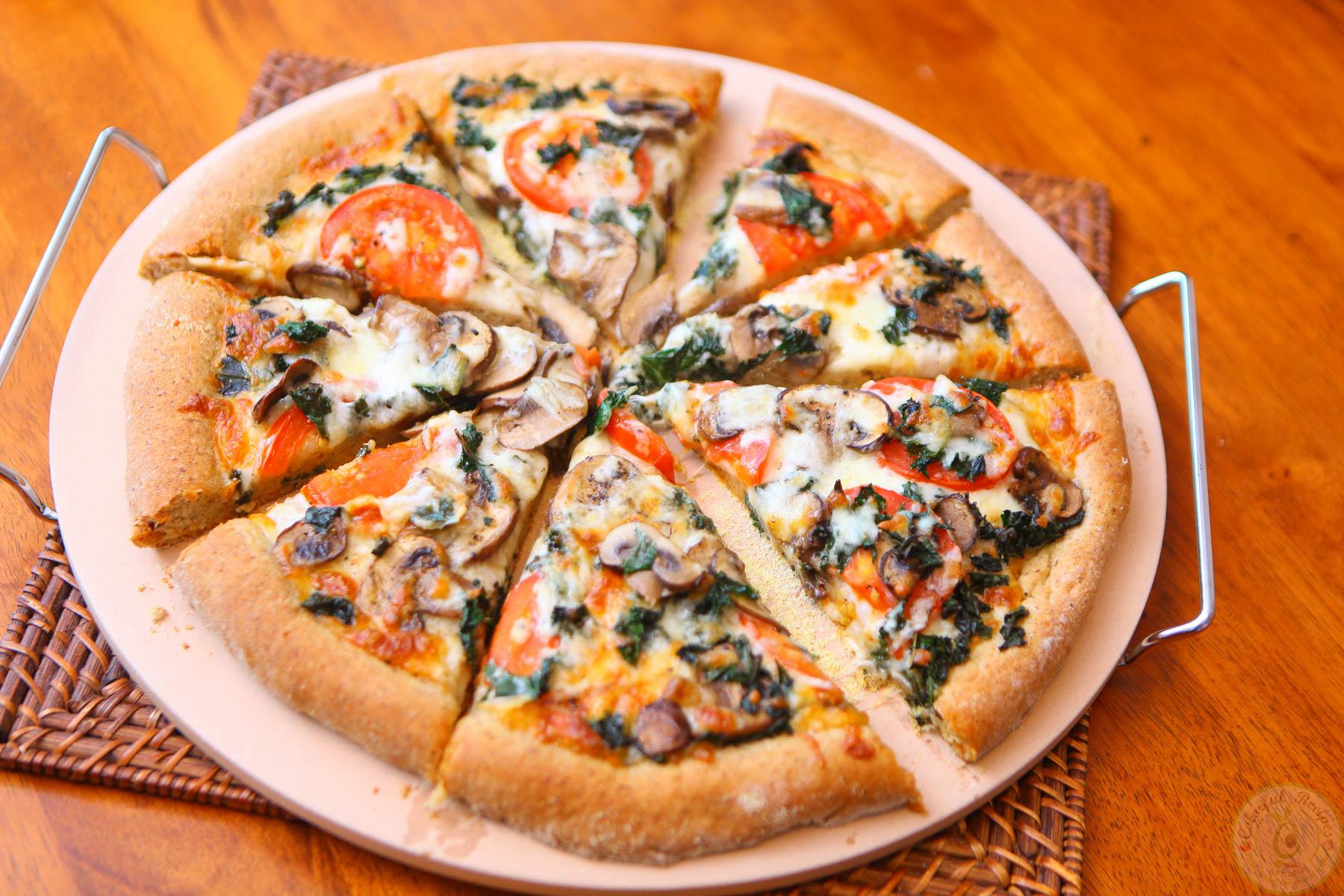 Flax Whole Wheat Kale Pizza