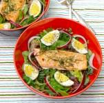 Quick Leftover Salmon Salad