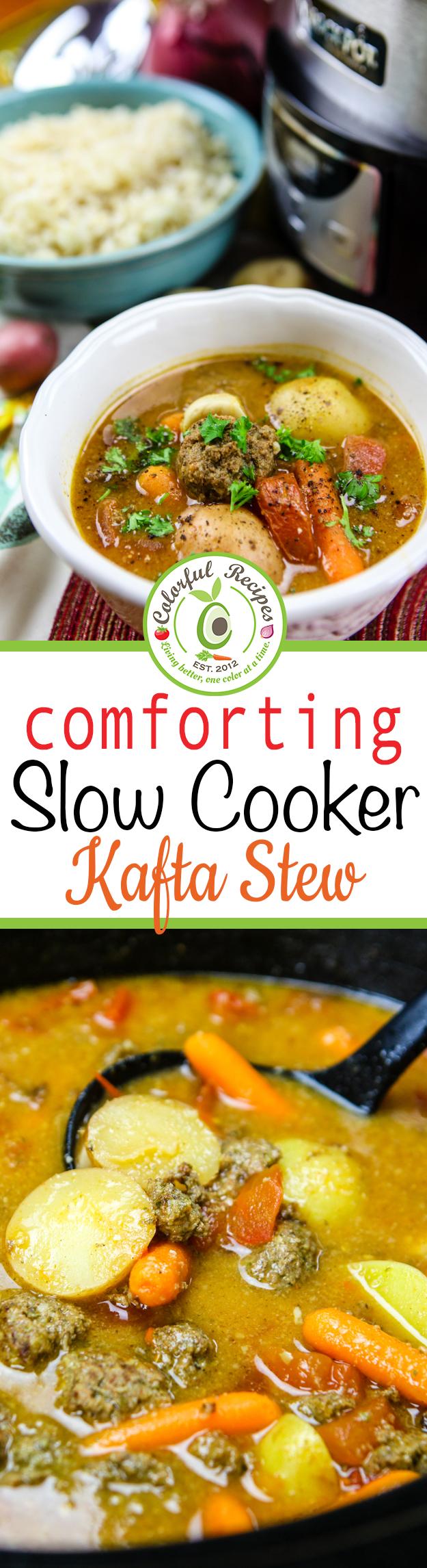 Comforting Slow Cooker Lebanese Kafta Stew