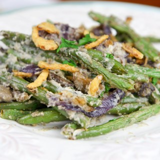 Cashew Cream Green Bean Casserole