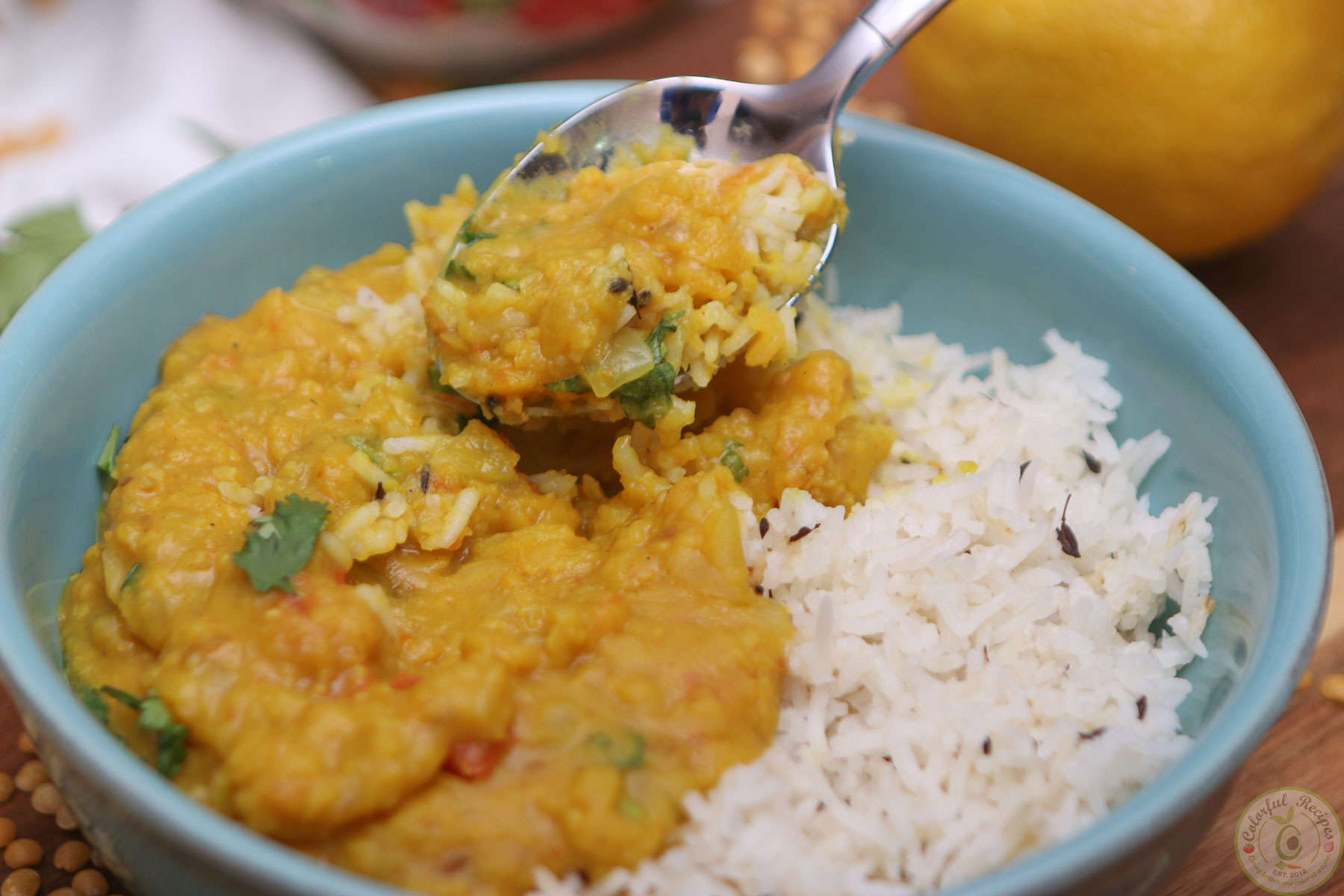 Buttery Instant Pot Pigeon Pea Dal