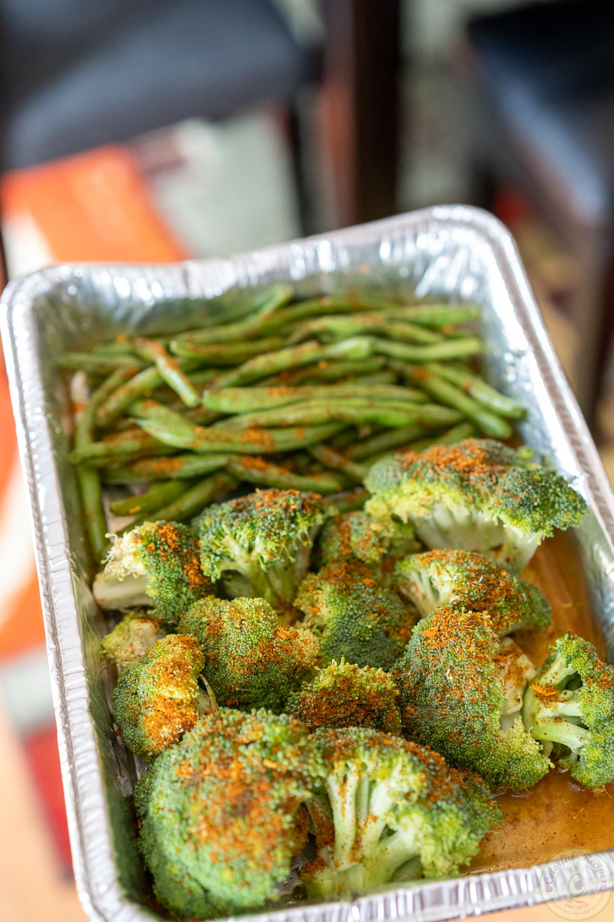 steamed veggies on the grill