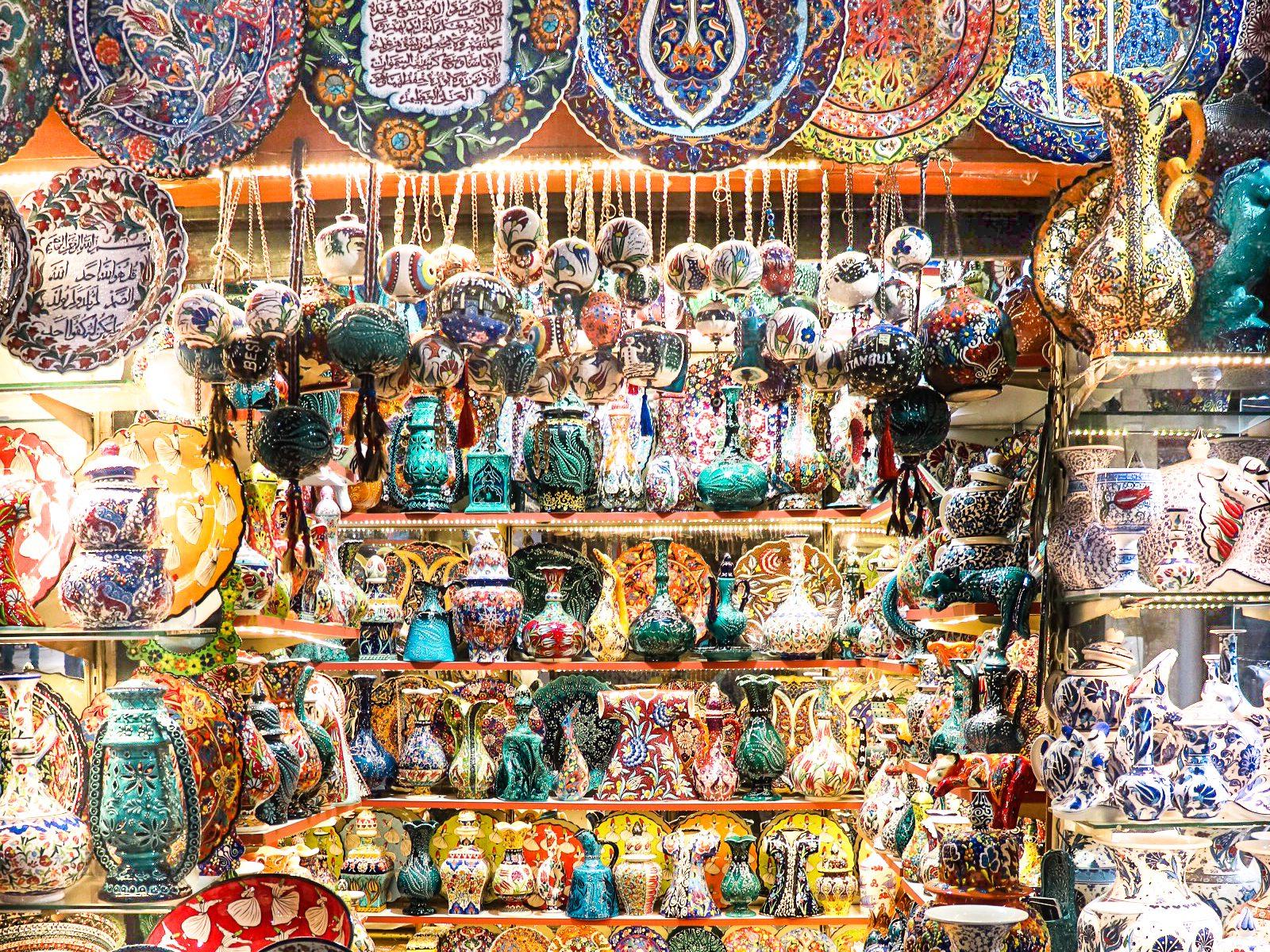 Ceramics at the Grand Bazaar, Istanbul