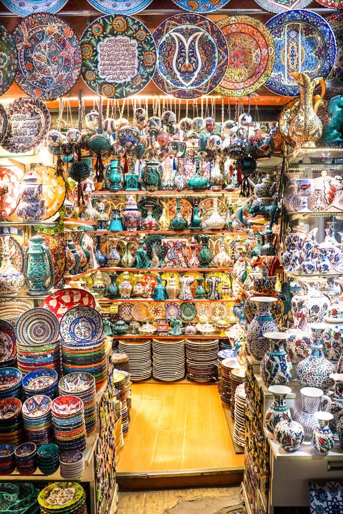 Colorful Ceramics Grand Bazaar Istanbul