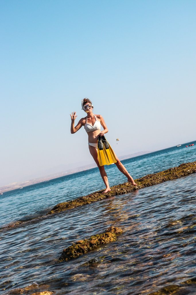 Snorkeling in eilat, Israel
