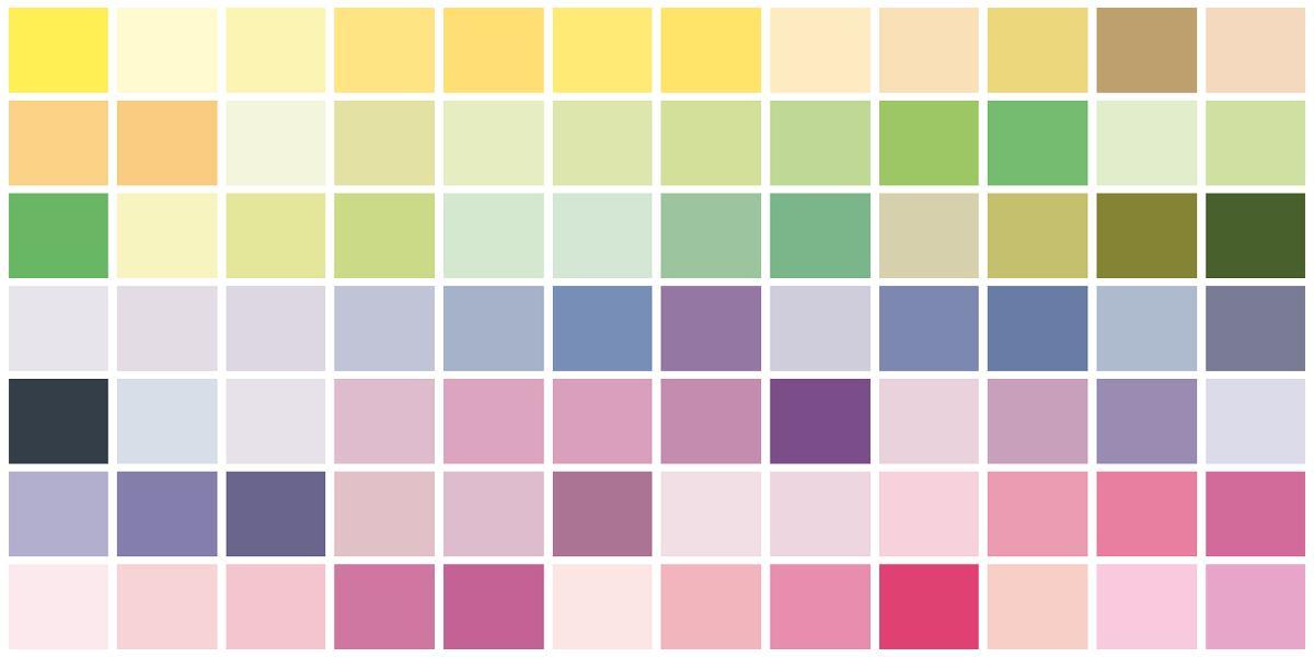 Interactive Copic Color Chart Colorgaia
