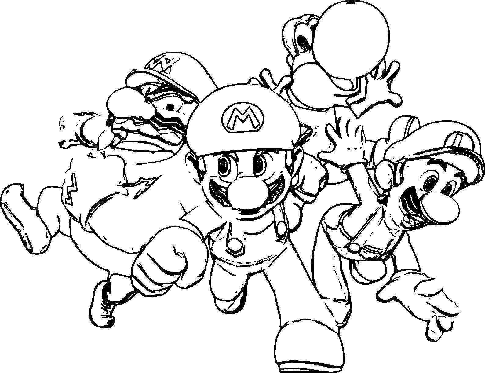 Coloriage Gratuit A Imprimer De Mario Coloriage Imprimer