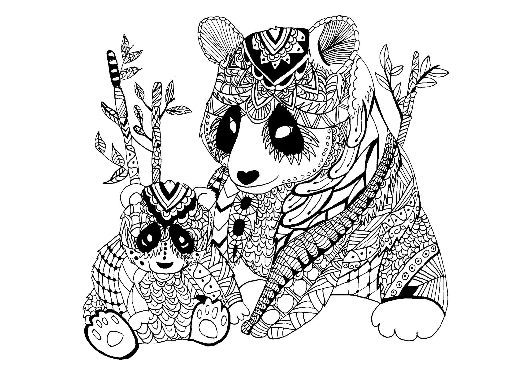 Coloriage A Imprimer Gratuit Panda - Gratuit Coloriage