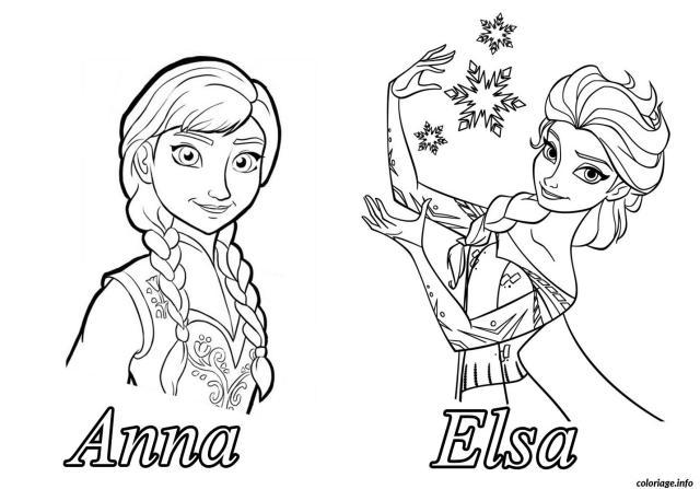 Coloriage Reine Des Neiges Anna Elsa Dessin La Reine Des Neiges à