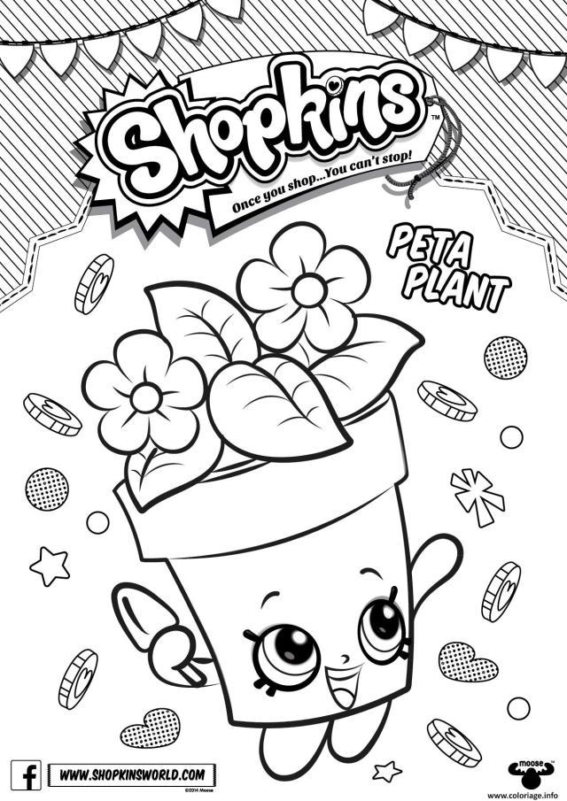 Coloriage Shopkins Peta Plant Dessin Shopkins à imprimer