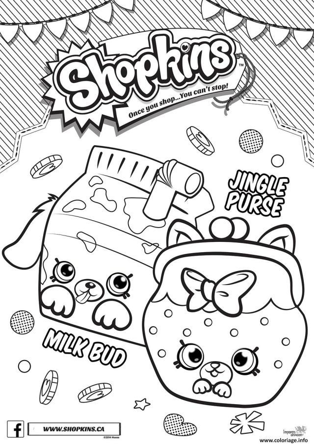Coloriage Shopkins Jingle Purse Milk Bud Dessin Shopkins à imprimer