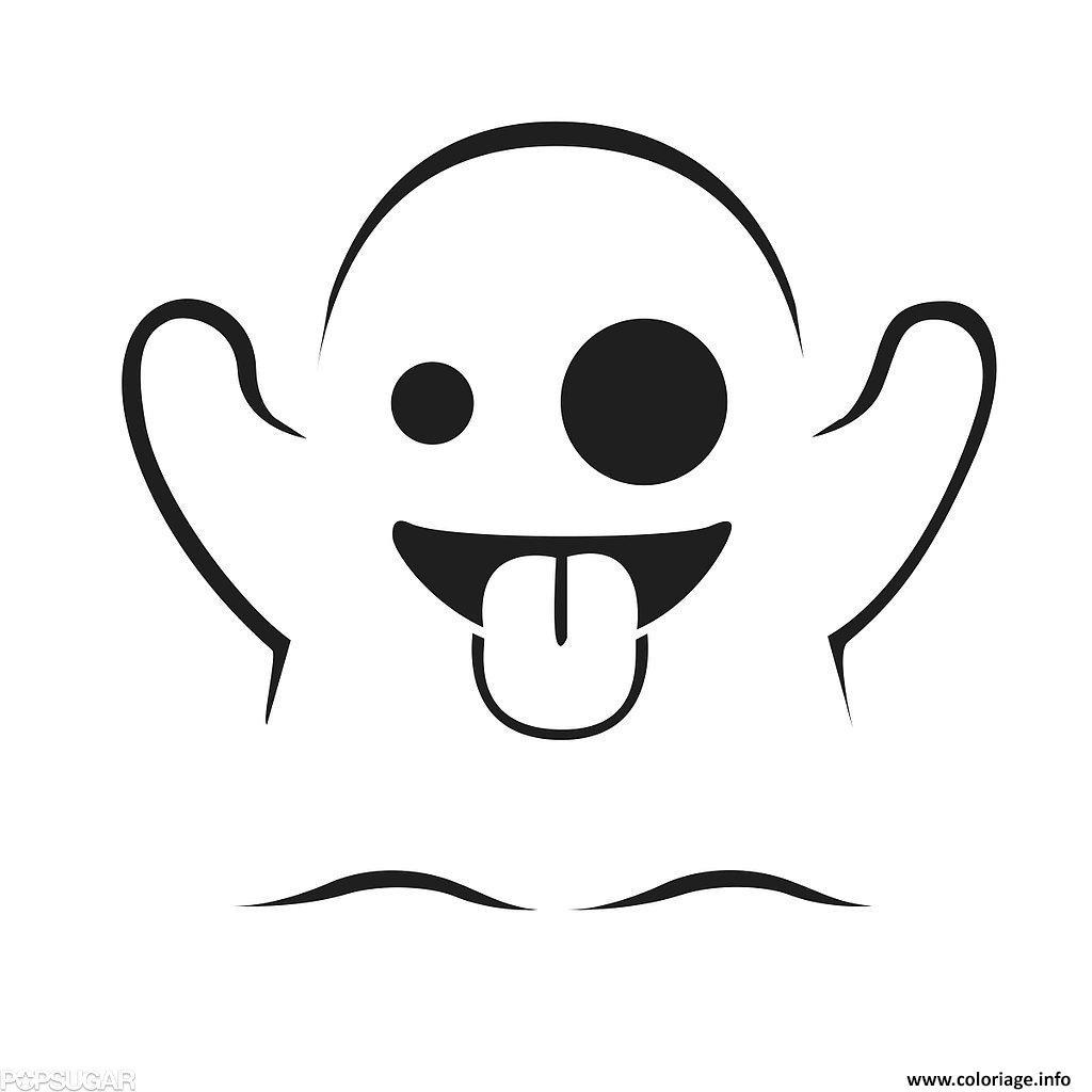 Coloriage Emoji Fantome Dessin