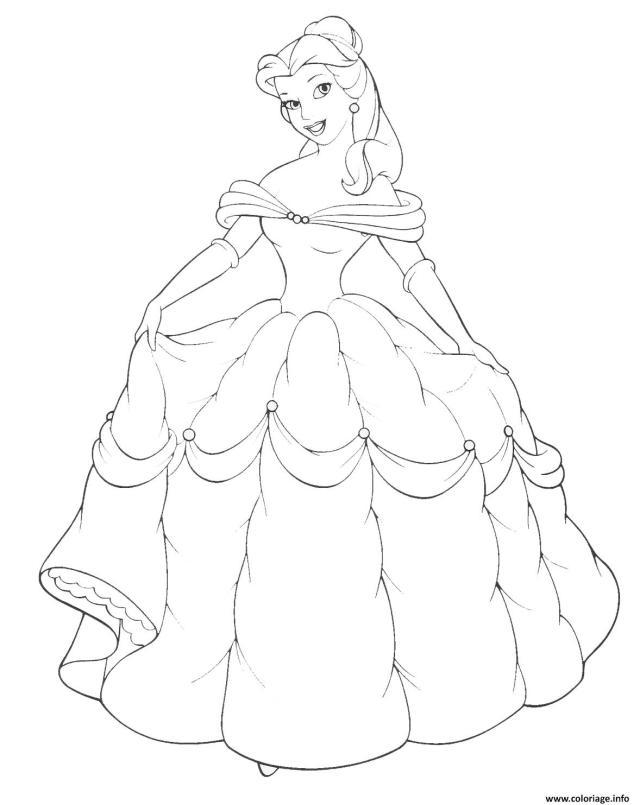 Coloriage Disney Princesse 26 Dessin Princesse à imprimer