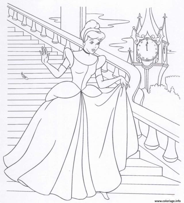 Coloriage Cendrillon Princesse 20 Dessin Princesse à imprimer