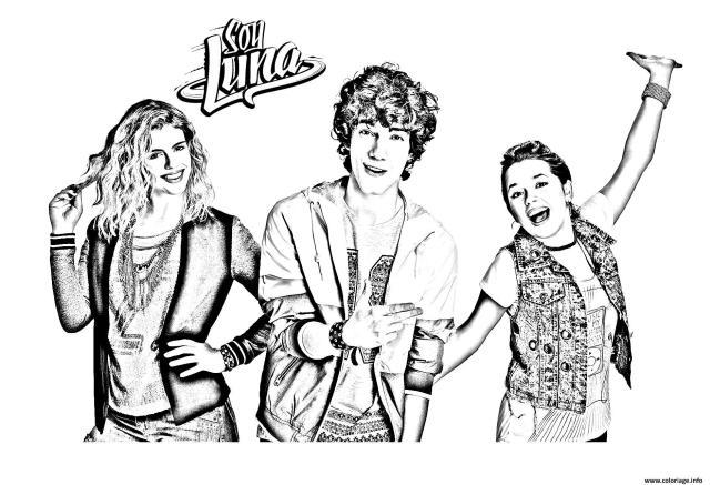 Coloriage Trio Soy Luna 22 Dessin Soy Luna à imprimer