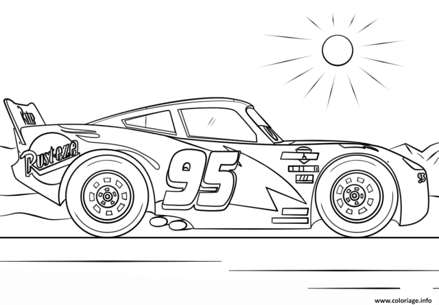 Coloriage Lightning Mcqueen From Cars 28 28 Disney Dessin Cars à
