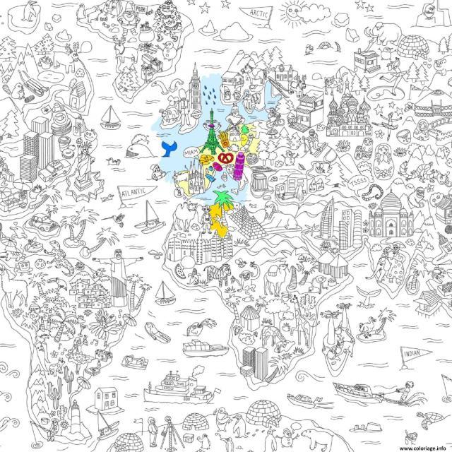 Coloriage Omy Poster Geant De L Atlas Xxl Dessin Xxl à imprimer