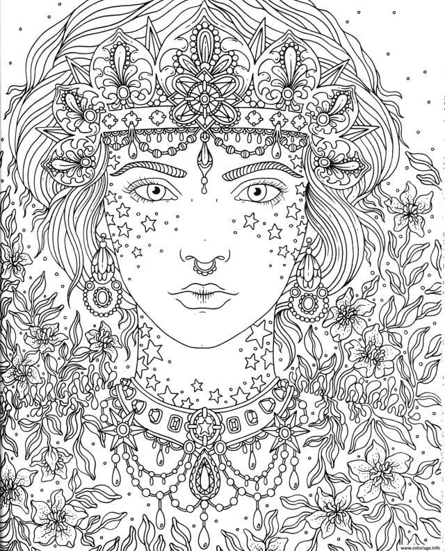 Coloriage Mandala Princesse A Imprimer - idées de coloriage