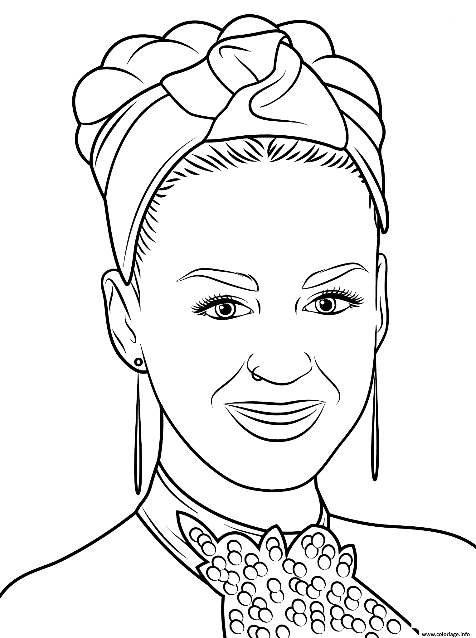 Coloriage Katy Perry Celebrite Star