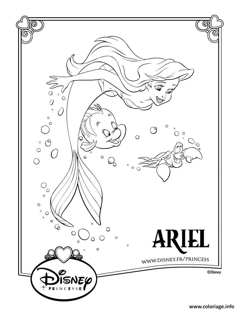 Ariel La Petite Sir?Ne Coloriage - dragkse