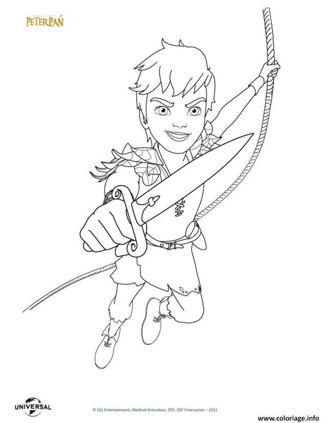 Coloriage Peterpan Le Film Dessin Peter Pan à imprimer