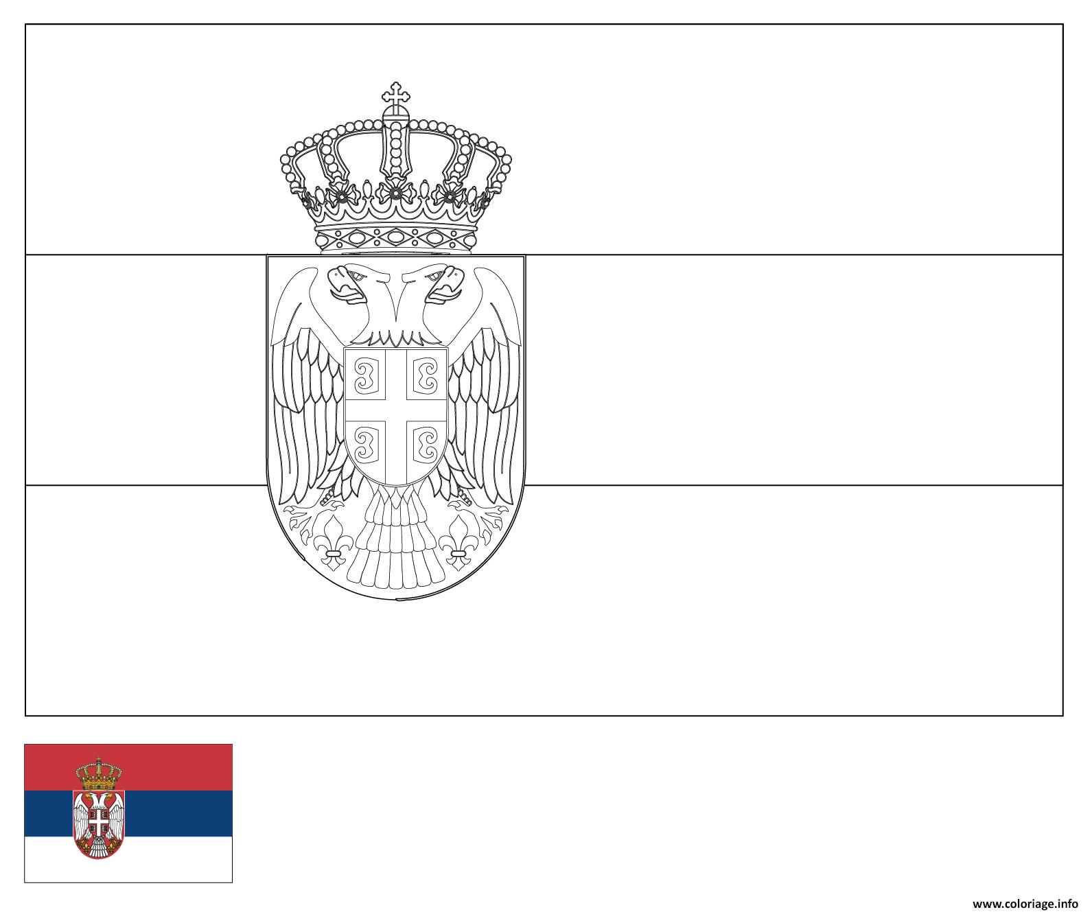 Coloriage D Au Serbie Dessin