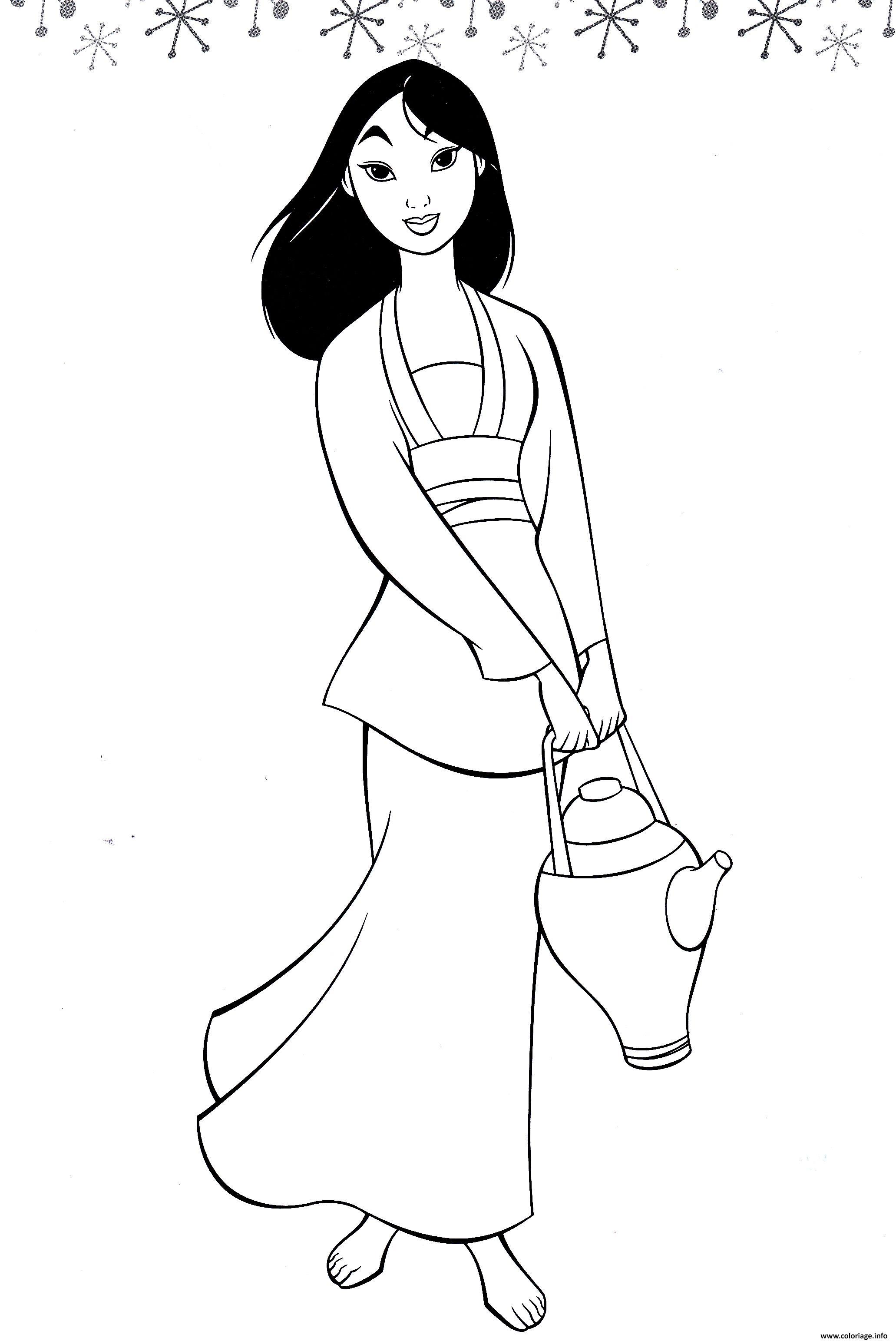 Coloriage Princesse Mulan Dessin