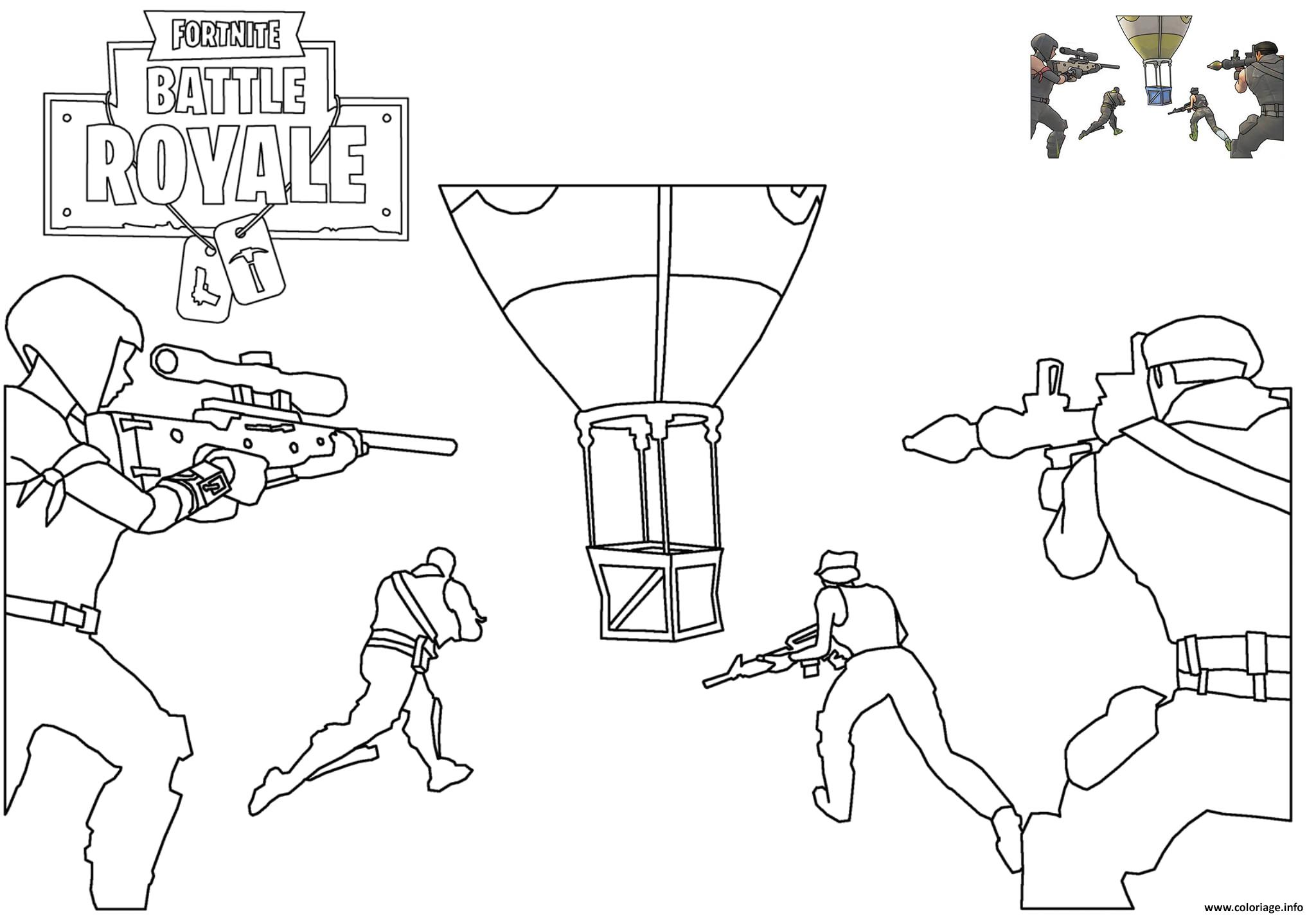 Coloriage Supply Drop Fortnite Battle Royale Dessin