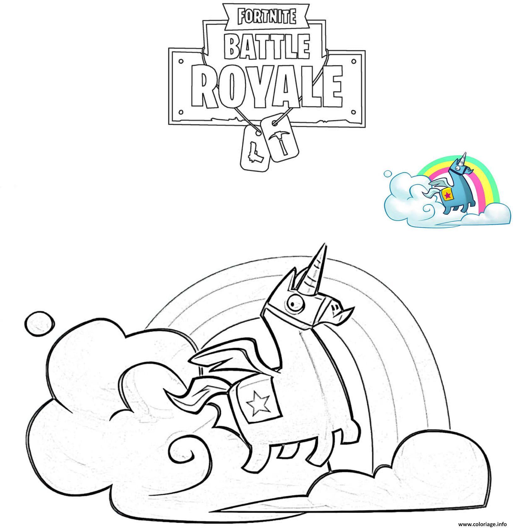 Llama De Fortnite Para Colorear Fortnite Battle Royale