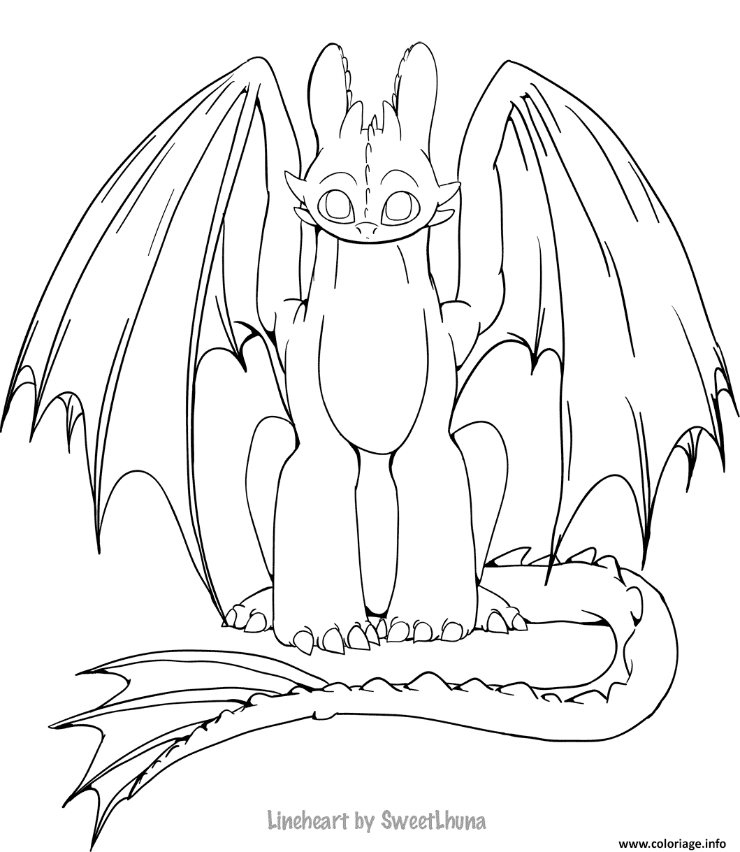 Coloriage How To Train Your Dragon 3 Dessin