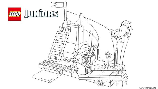 Coloriage Lego Juniors The Princess Play Castle Dessin Lego Junior