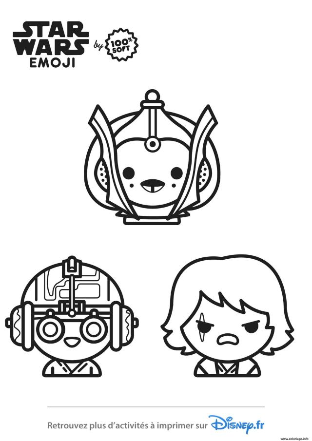 Coloriage star wars emoji - JeColorie.com