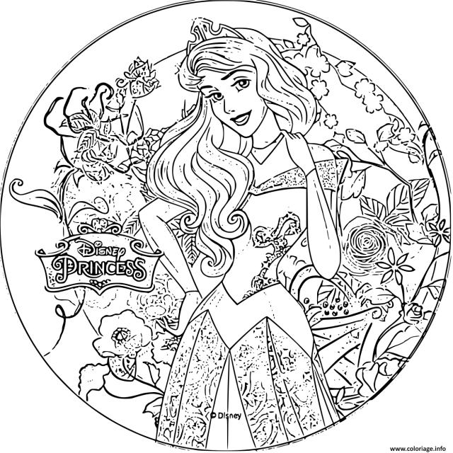 Coloriage Disney Princesse Aurore Dessin Princesse Disney à imprimer