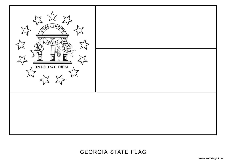 Coloriage D Au Of Georgia Etats Unis