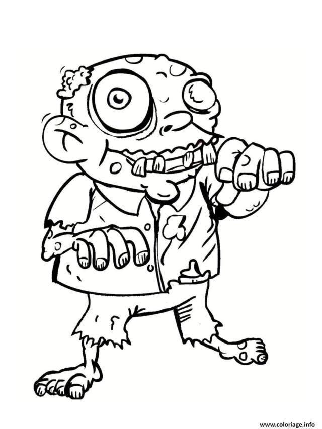 Coloriage Zombie Grand Pere Dessin Zombie à imprimer