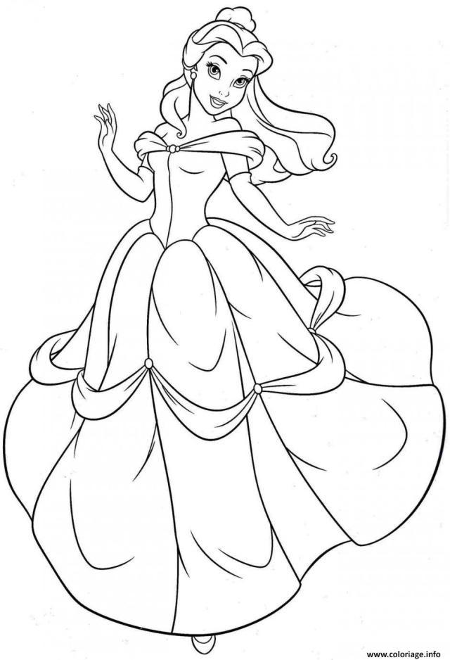 Coloriage La Princesse Belle Et La Bete De Gabrielle Suzanne