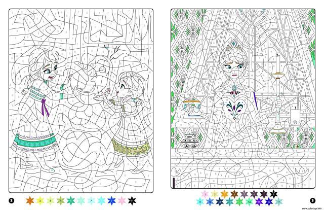 Coloriage Magique Disney Frozen Reine Des Neiges Anna Et Elsa