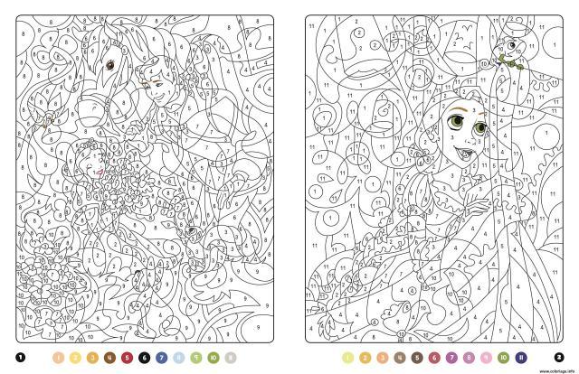 Coloriage princesse magique disney blanche neige et raiponce
