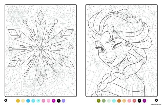 Coloriage La Reine Des Neiges MAgique Disney Dessin Magique à imprimer