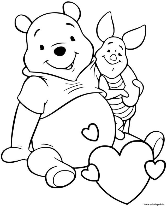 Coloriage Winnie Pooh Et Porcinet Les Meilleurs Amis Dessin Winnie
