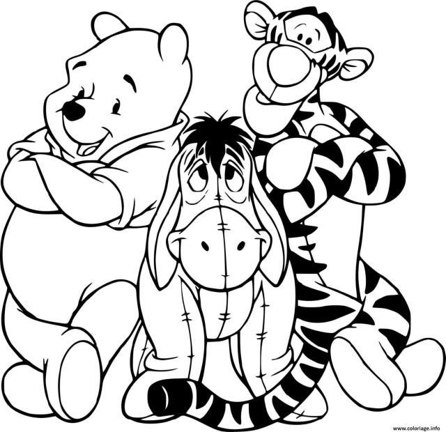 Coloriage Les 28 Amigos Winnie Tigrou Bouriquet Dessin Winnie