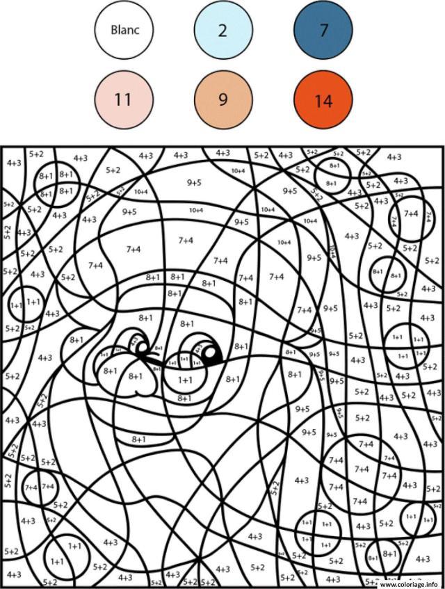 Coloriage Magique Addition Noel Chiffre Numero Dessin Magique Noel