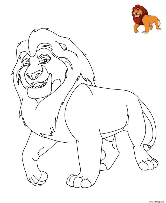 Coloriage Le Roi Lion Disney Dessin Disney Walt à imprimer
