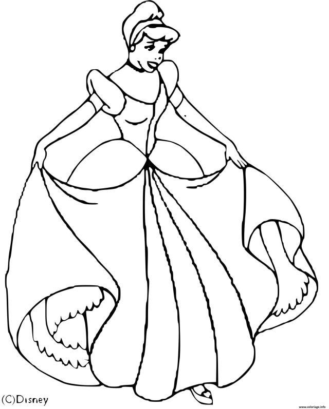 Coloriage Cendrillon Disney Dessin Cendrillon à imprimer
