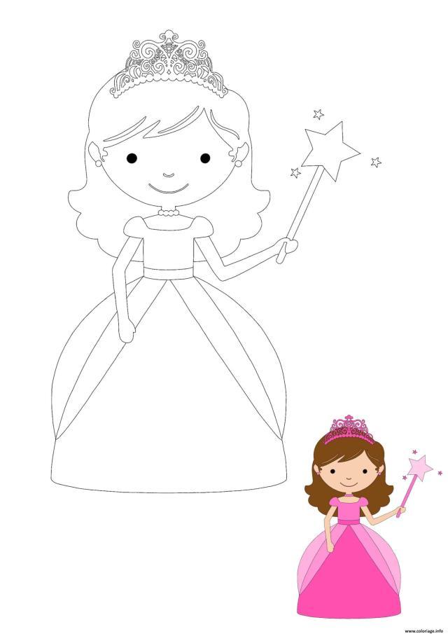 Coloriage Bebe Princesse Dessin Princesse à imprimer